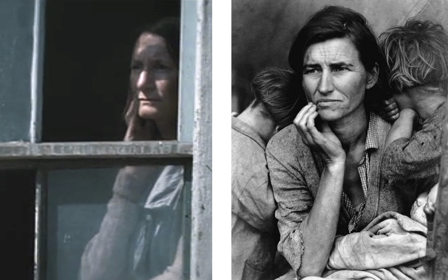 Hunger Games with Dorothea Lange photograph