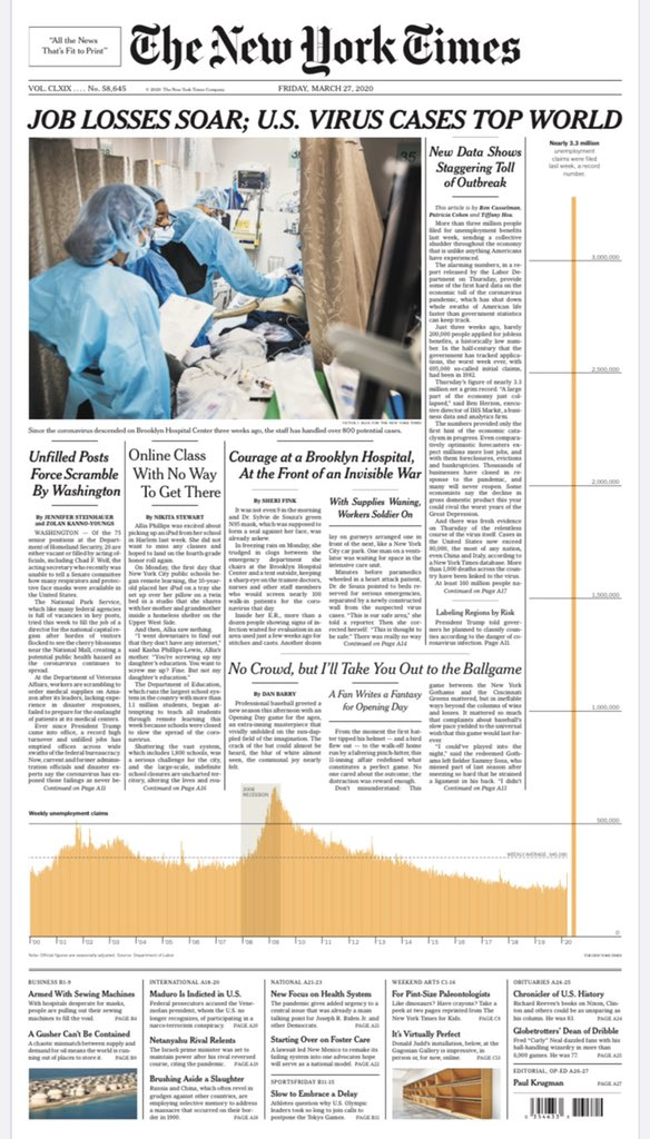 New York Times, 27 March 2020