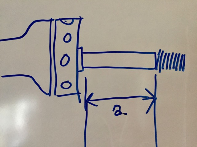 Drawing shows axle in side view