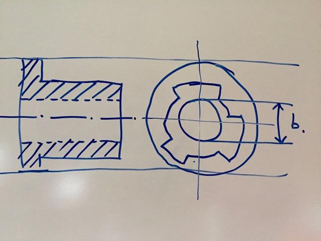 Drawing shows brake hub